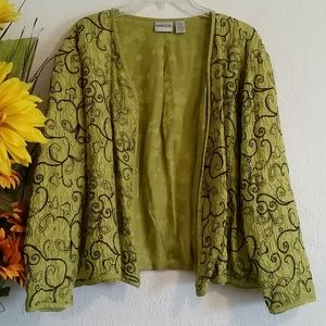 🌿 Chico's Lime Green Cardigan Size 2/Lg12